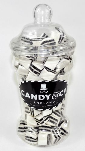 BLACK & WHITE MINTS SMALL VICTORIAN JAR 950g